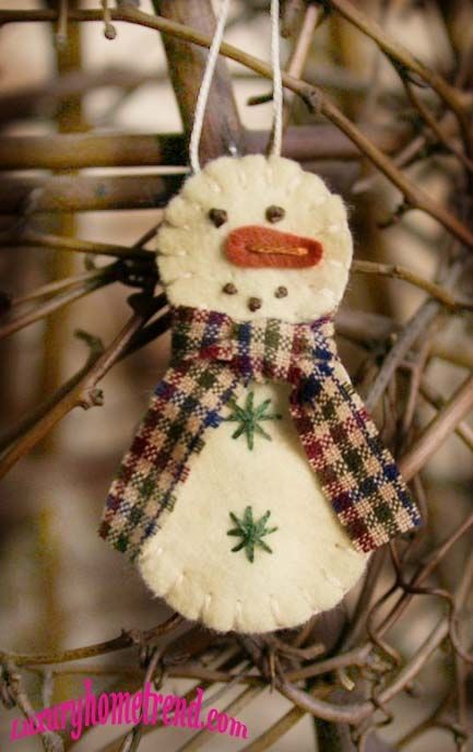 36+Creative+Felt+Ornaments+For+Christmas+Tree