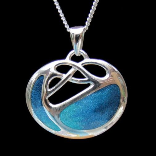 Sterling Silver Archibald Knox Necklace Turquoise
