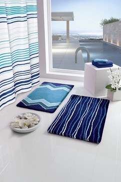 Best Bathroom Decor Ideas Images On Pinterest Bathroom Ideas - Bath rug blue for bathroom decorating ideas