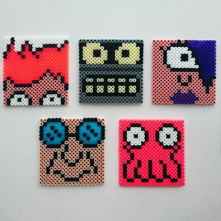 Futurama coasters perler beads by merlinsmamma