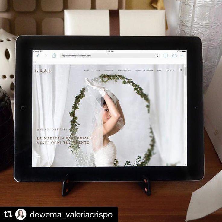 #Repost @dewema_valeriacrispo with @repostapp  È in dirittura d'arrivo il nuovo sito che ho realizzato per @lebaobabsposa  link in bio #webdesign #graphicdesign #artdirection #artdirector #bride #wedding #sposa #atelier #abiti #abitodasposa #bridaldress #socialmarketing
