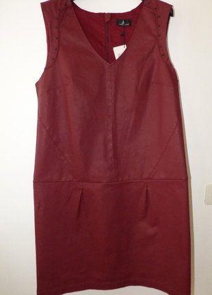 À vendre sur #vintedfrance ! http://www.vinted.fr/mode-femmes/robes-casual/27146235-robe-rouge-bordeaux-one-step-taille-42