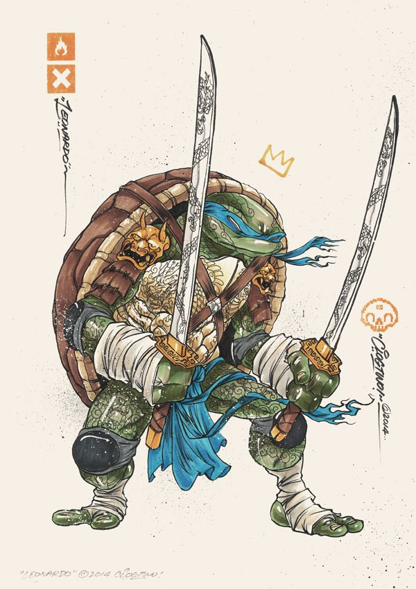 Illustrations des Tortues Ninja par Clogtwo
