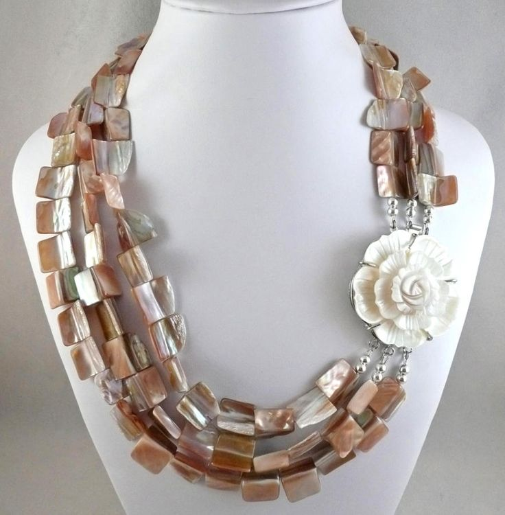 Rose and Shell - Jewelry creation by Madalynne Homme