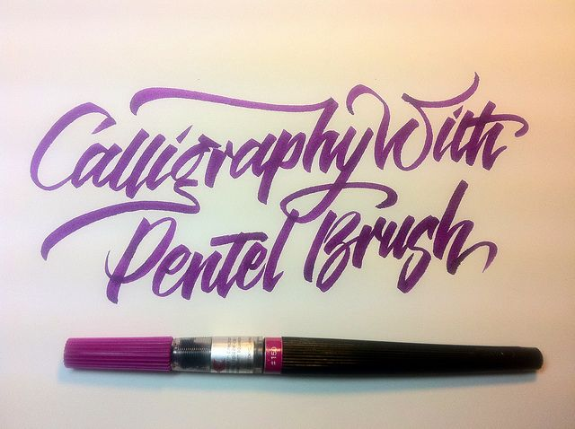 Pentel pointed brush by Barbara Calzolari #calligraphy
