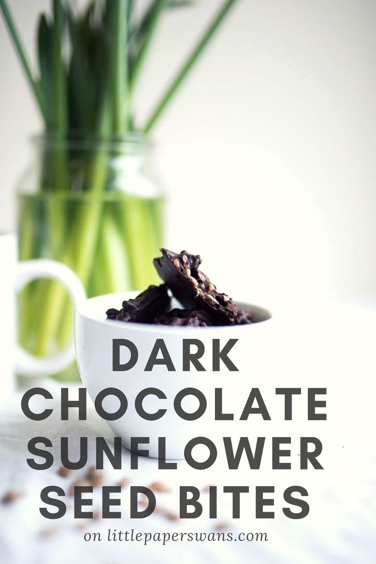 Simple and Healthy Snacks. Good for you sunflower seeds and delicious dark chocolate combined into a bitesize snack.