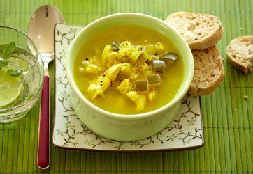 Squashsuppe med kylling Suppe med masser af næring fra Familie Journals Slankeklub