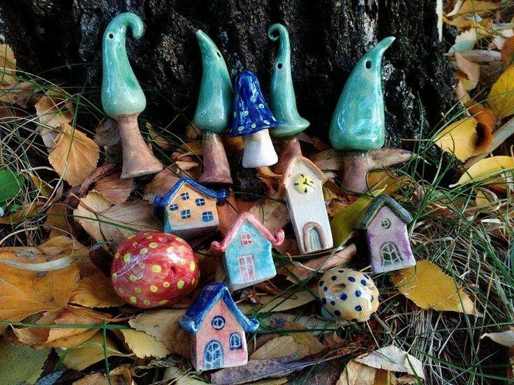 Mesekerámia ősszel #kerámia #ceramic #houses #ház #kerámiaház #ceramichouse