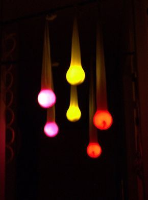 Gartenbeleuchtung aus alten Strumpfhosen / Garden lights made of old tights / Upcycling