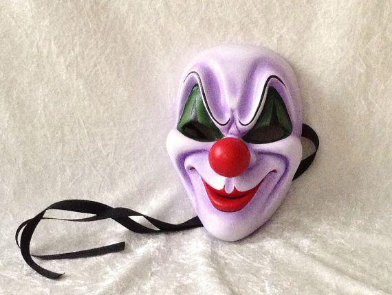 Groot masker: Creepy clown  met rode neus door TheaterDidymus