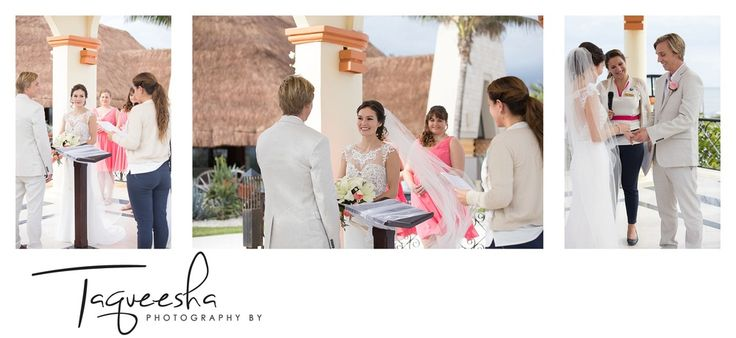 destination wedding ceremony at the Grand Bahai in the Riviera Maya  Photography by Taqueesha