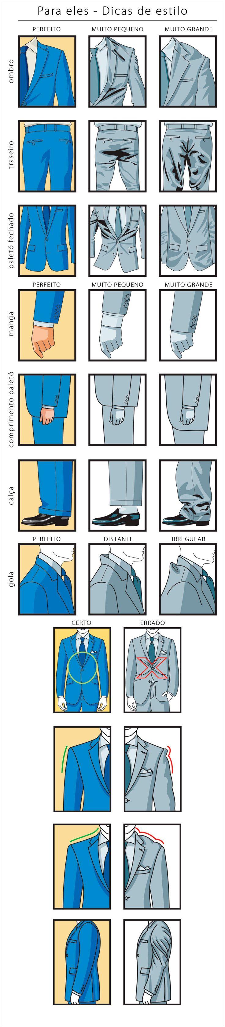 Máximas GENERALES para el vestir. Traje de hombre.