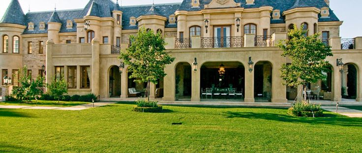 French Chateau Beverly Hills California Rear Homes