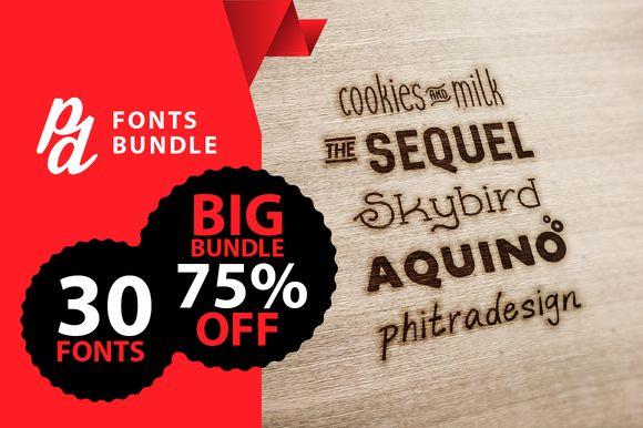 PD Fonts Bundle (-75% OFF LIMITITED) Font @creativework247