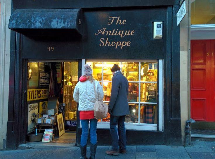 in vintage edinburgh shops