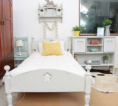 SINGLE BED, RUSTIC FARMHOUSE, INDUSTRIAL WHITE