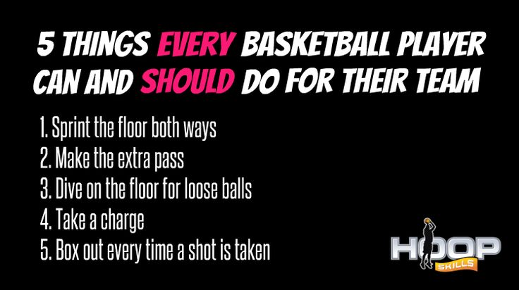 Here are 5 things every basketball player can and should do for their team.