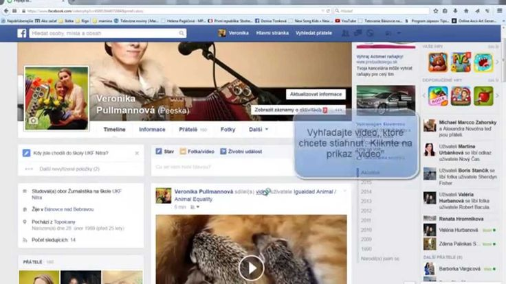 Ako stiahnuť video z Facebooku 2015 /  How to download video from facebo...