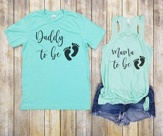 Pregnancy Couple Announcement Shirts, Preggers Shirt, Couple Shirt, Mom to be …   – Baby Stuff