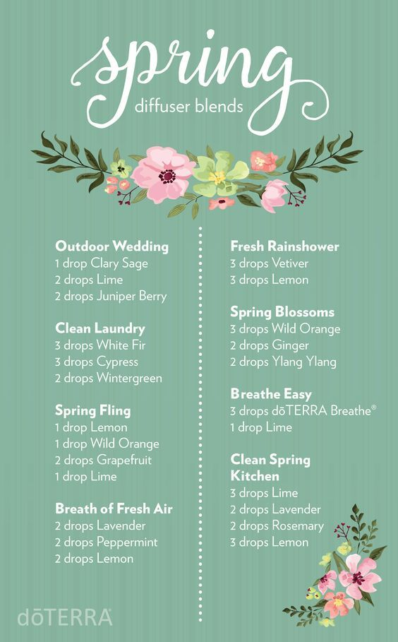 Today is officiallyAsr the first day of spring! Celebrate with these irresistible doTERRA diffuser blends.