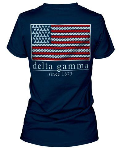 Patriotic Delta Gamma T-shirt Delta Gamma http://www.greekt-shirtsthatrock.com/