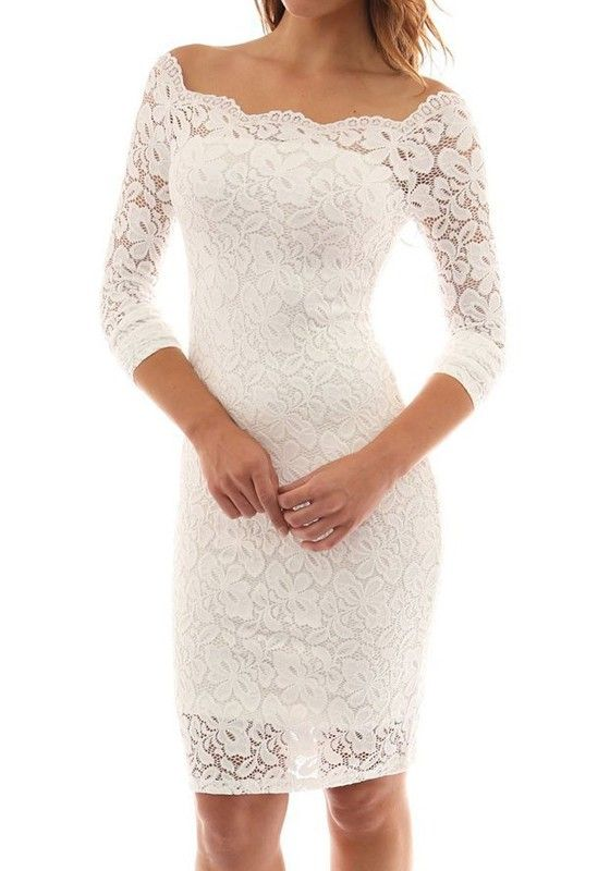 We can't wait to get our hands on this white lace midi dress, it's an absolute wardrobe must have. Get this beauty at Fichic.com!