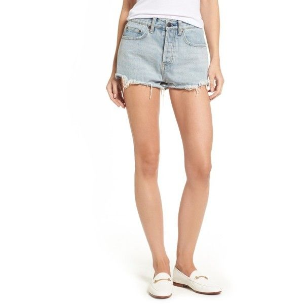 Women's Love Like Summer X Billabong Denim Shorts ($80) ❤ liked on Polyvore featuring shorts, sea wash, jean shorts, cutoff jean shorts, denim cut-off shorts, beach shorts and frayed jean shorts