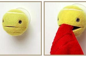 Tennis Ball Towel Holder - Cuteness!!