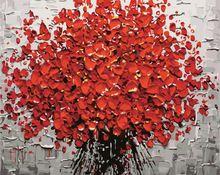 Framless Nový přírůstek jedinečný dárek Digitální olejomalba na plátně, malování podle čísel Dekorativní obrázek 40 * 50-Květ 40x50cm G431 (Čína (pevninská část))