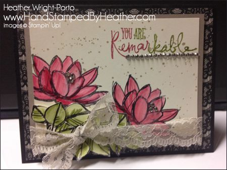Hand Stamped By Heather, Heather Wright-Porto, Stampin' Up! Demonstrator: Stampin' Up! Remarkable You: Happy Stampers Team Blog Hop