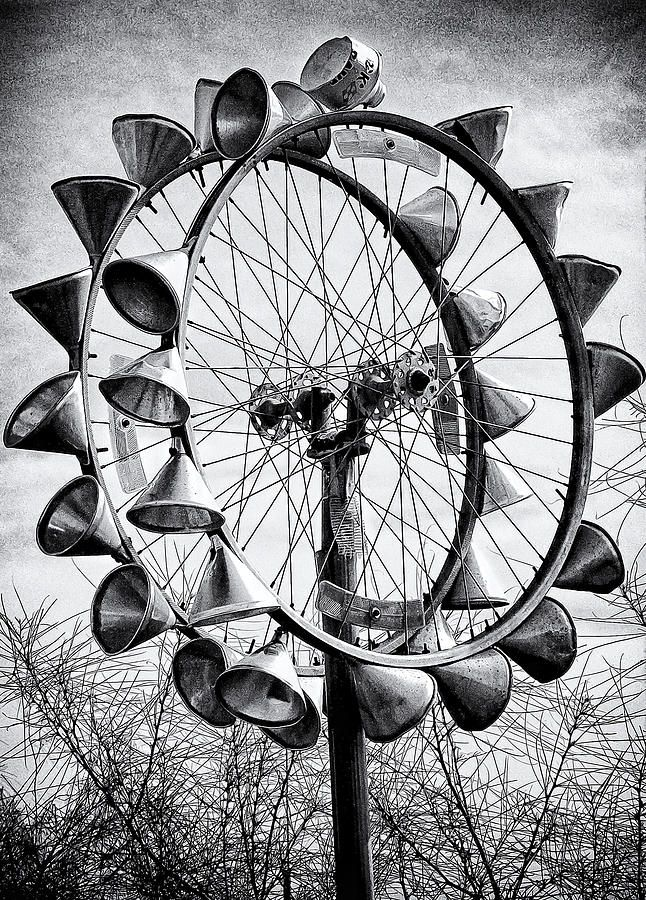 Bicycle Wheel Sculpture Photograph  - Bicycle Wheel Sculpture Fine Art Print