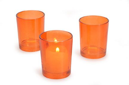 2 In. Orange Candle Holder 24pcs