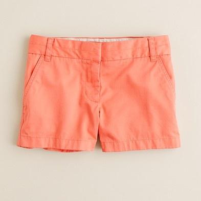 "3"" chino short / JCrewJcrew Shorts, Colors Shorts, Cute Summer Outfit, J Crew Shorts, Chino Shorts, Summer Colors, Summer Shorts, Coral Shorts, Summer Clothing"
