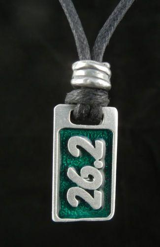 Marathon Jewelry 26.2 Pendant Necklace in Fine Pewter for Men or Women 0926 | eBay
