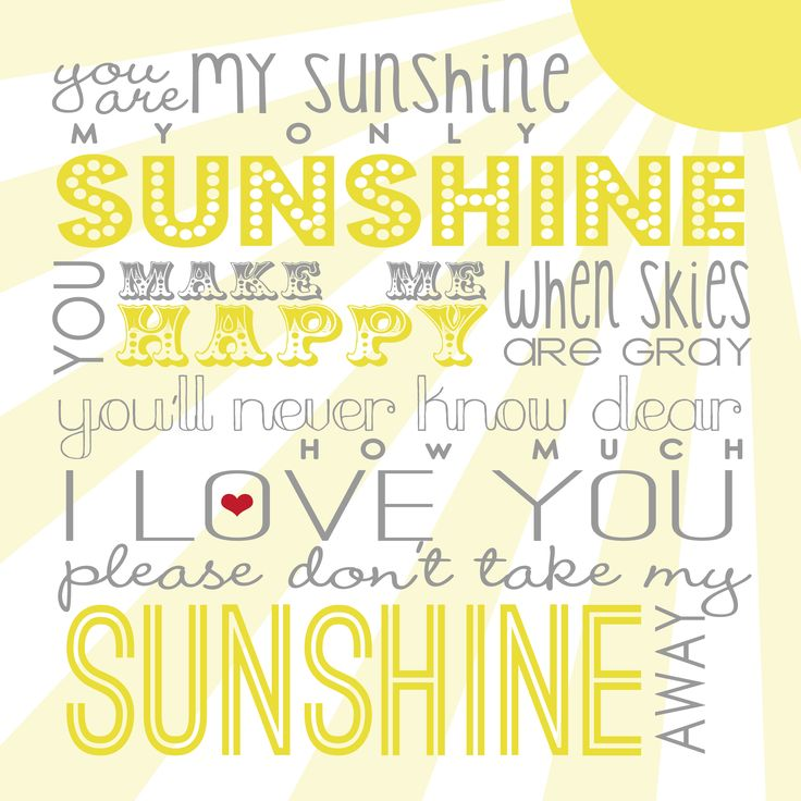You Are My Sunshine | Free Printable - Blog Design | Blogger Templates - Designer Blogs
