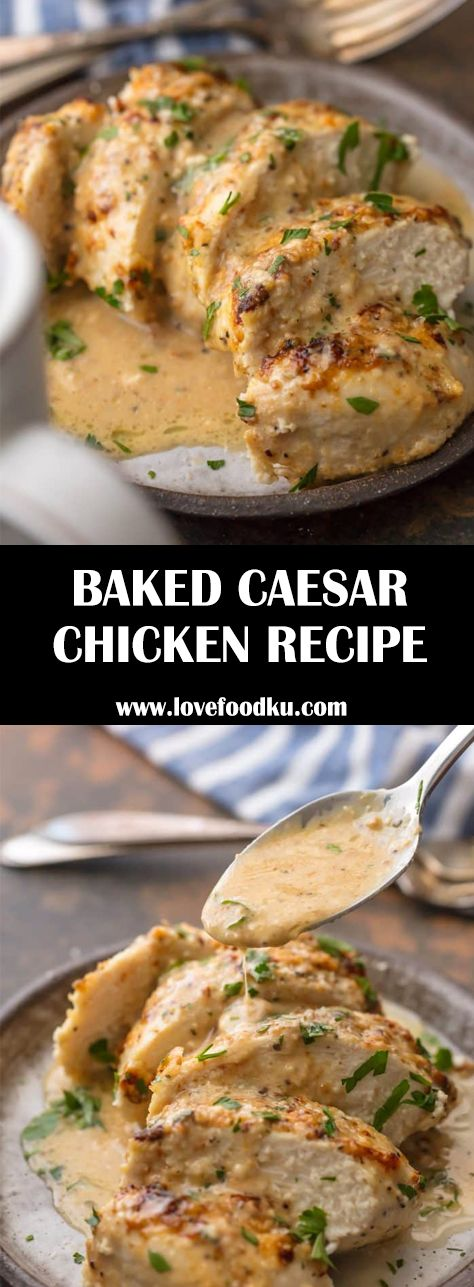 Caesar Chicken (MELT IN YOUR MOUTH and only 4 Ingredients!) is made with only 3 …