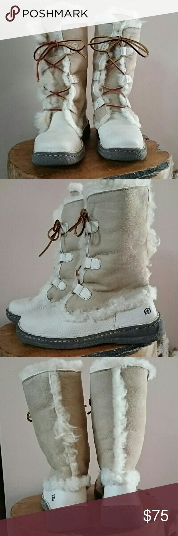 Born Nome boots Beautiful, comfortable leather and shearling Nome boots. Worn once. Great shape. Born Shoes Winter & Rain Boots