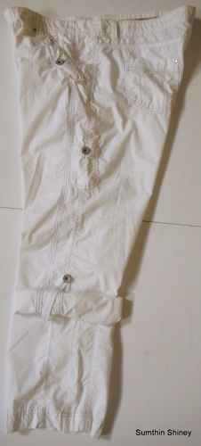 Marks & Spencer Trousers White Roll-up Pants Size 18 (UK 22) 44 x 30  $14.95  #marksspencer