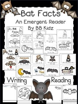 This is an emergent reader on Bat Facts.  Some of the pages have pictures on them and some you have to create the pictures.  It has 2 writing pages included. 17 PagesBy BB Kidz