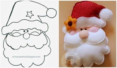 Moldes navideños en fieltro, navidad                                                                                                                                                                                 Más