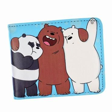 We Bare Bears wallet card holders Grizzly anime short coin purse gifts