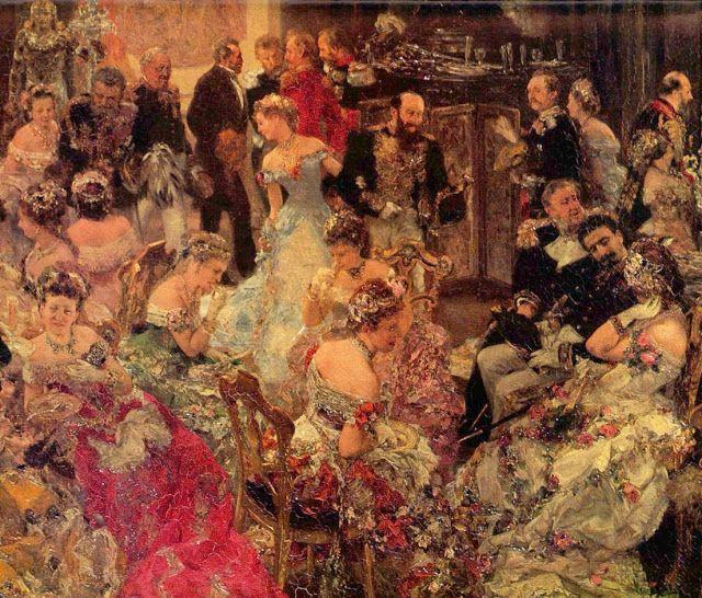 "Adolph Menzel (German, 1815-1905) ""Ball Scene (detail)"