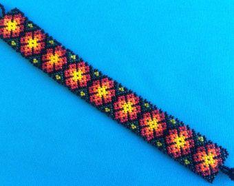 Mexican Huichol Loom Bracelet