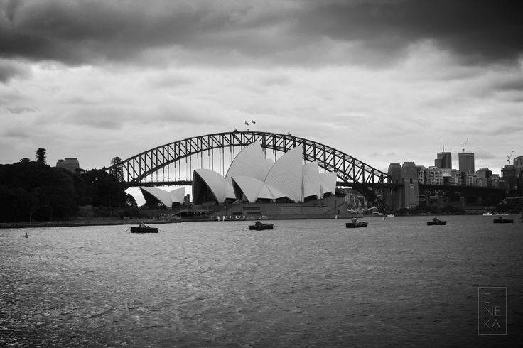 Sydney Opera House. Black and white series. March 2016.