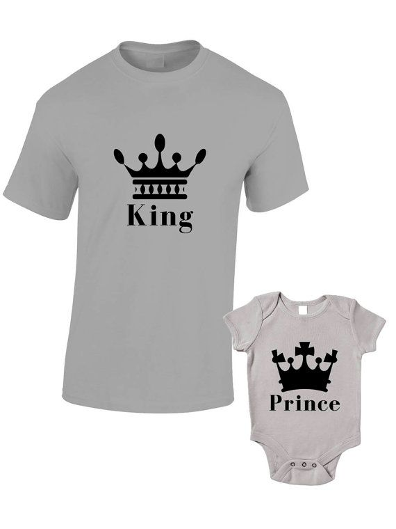 King & Prince TShirts or Baby Grow Matching by BlueIvoryLane, £19.99