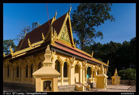 Ang Pagoda in Khmer style. Tra Vinh, Vietnam