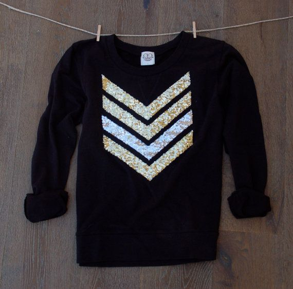 Sequin Chevron/Arrow Design Sweatshirt The by ICaughtTheSun