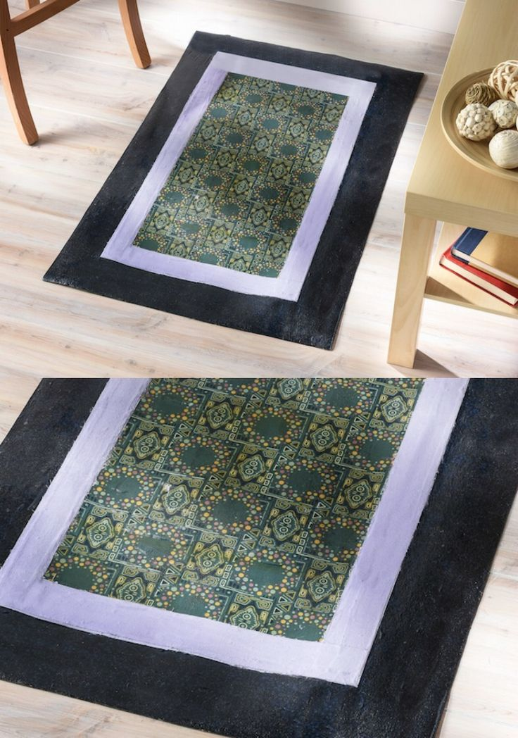 How To Make A Mod Podge Floor Cloth Rugs How To Make