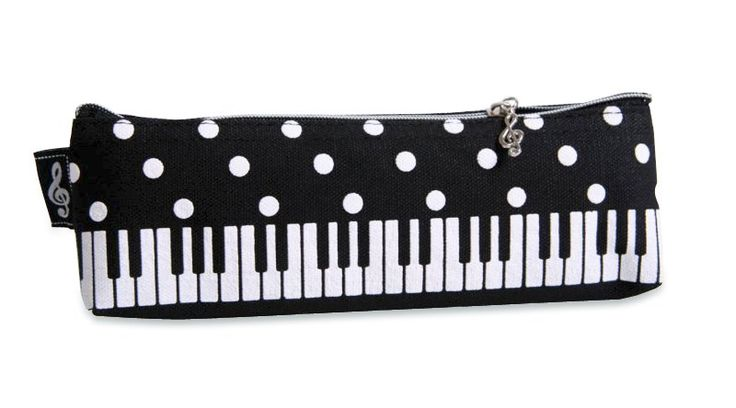 Mäppchen für Stifte Klaviertastatur