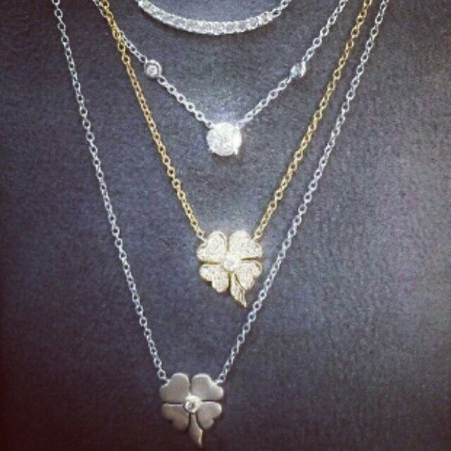 18ct gold and diamond necklaces
